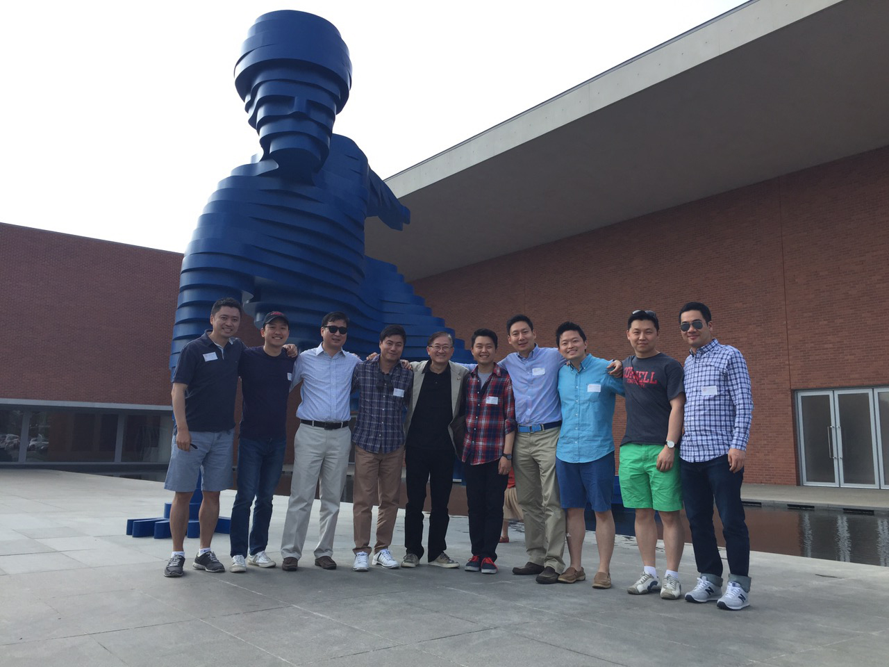 Johnson alumni at the 2015 Cornell Club picnic held at the AmorePacific Beauty campus