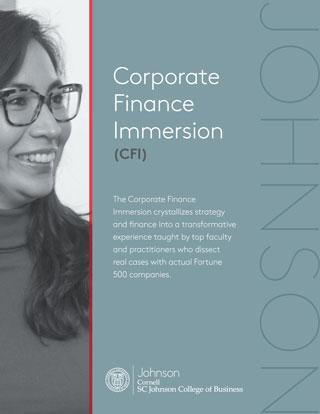Corproate Finance Immersion