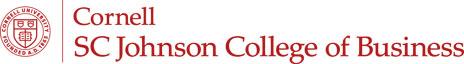 Cornell SC Johnson College of Business logo