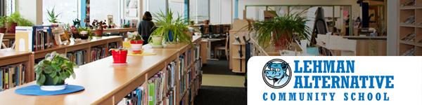 Lehman Alternative Community School library interior