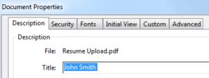 PDF formatting example
