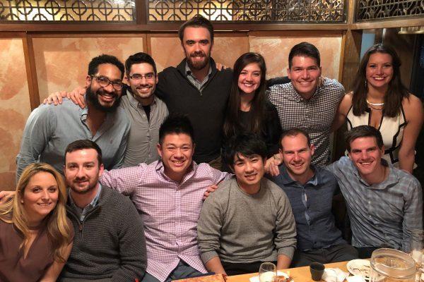 Matt Pundmann, Two-Year MBA '19, with Johnson classmates in Tokyo
