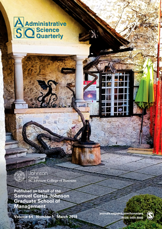 Administrative Science Quarterly cover - January 2019