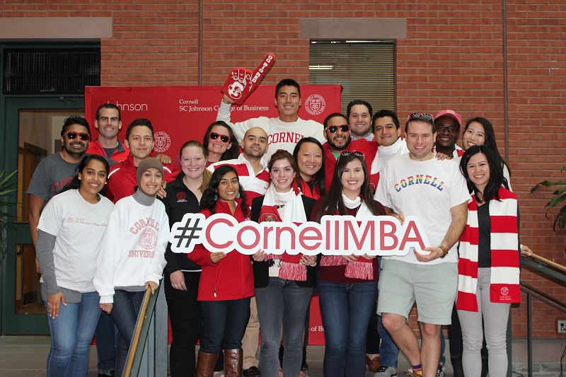 Johnson Admissions Group (JAG) group photo with #CornellMBA