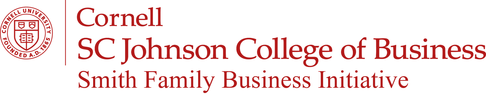 Cornell SC Johnson College of Business Smith Family Business Initiative logo