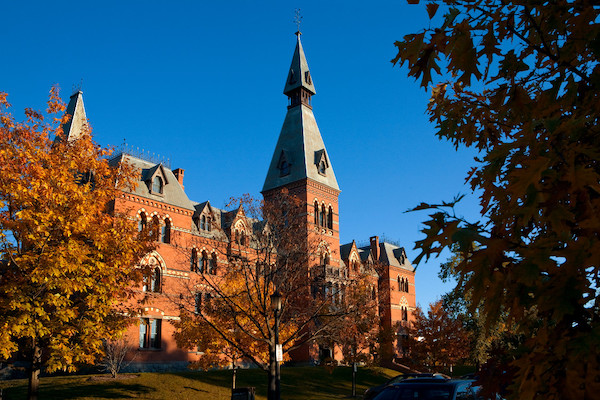 Sage Hall in fall