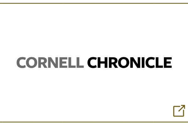 Cornell Chronicle logo with external link icon