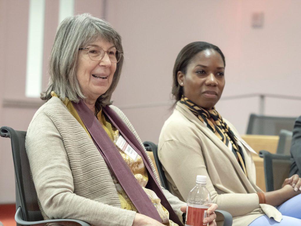 Two women mentors