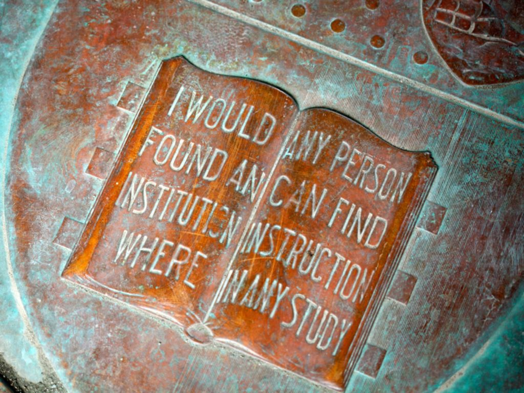Plaque inscribed with Any Person Any Study