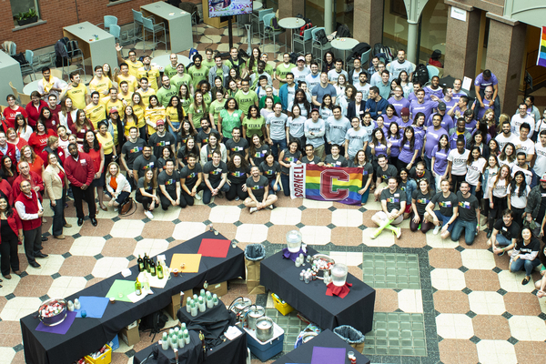 Johnson students show support for the LBGTQ+ community.