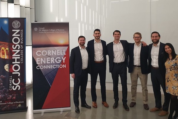 Students from the Cornell Energy Club pose for a photo