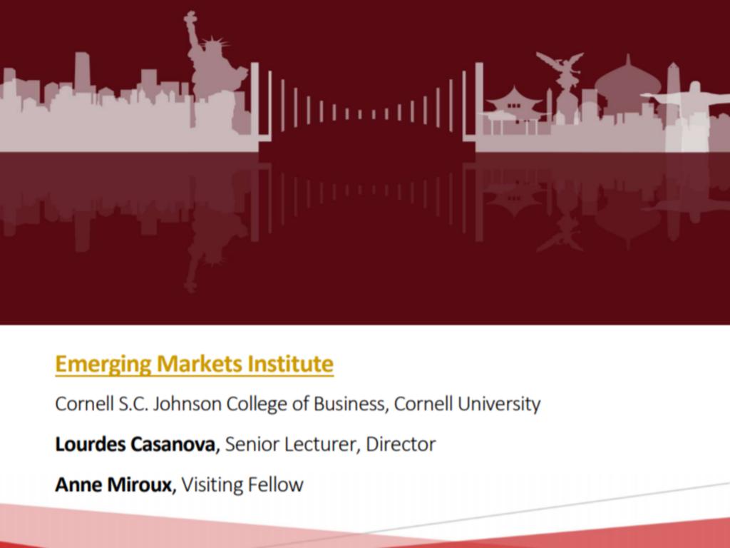 Emerging Market Institute 2019 Report Cover