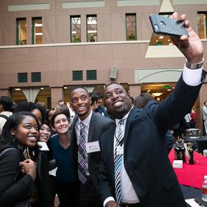 JMB participants take a selfie in the atrium