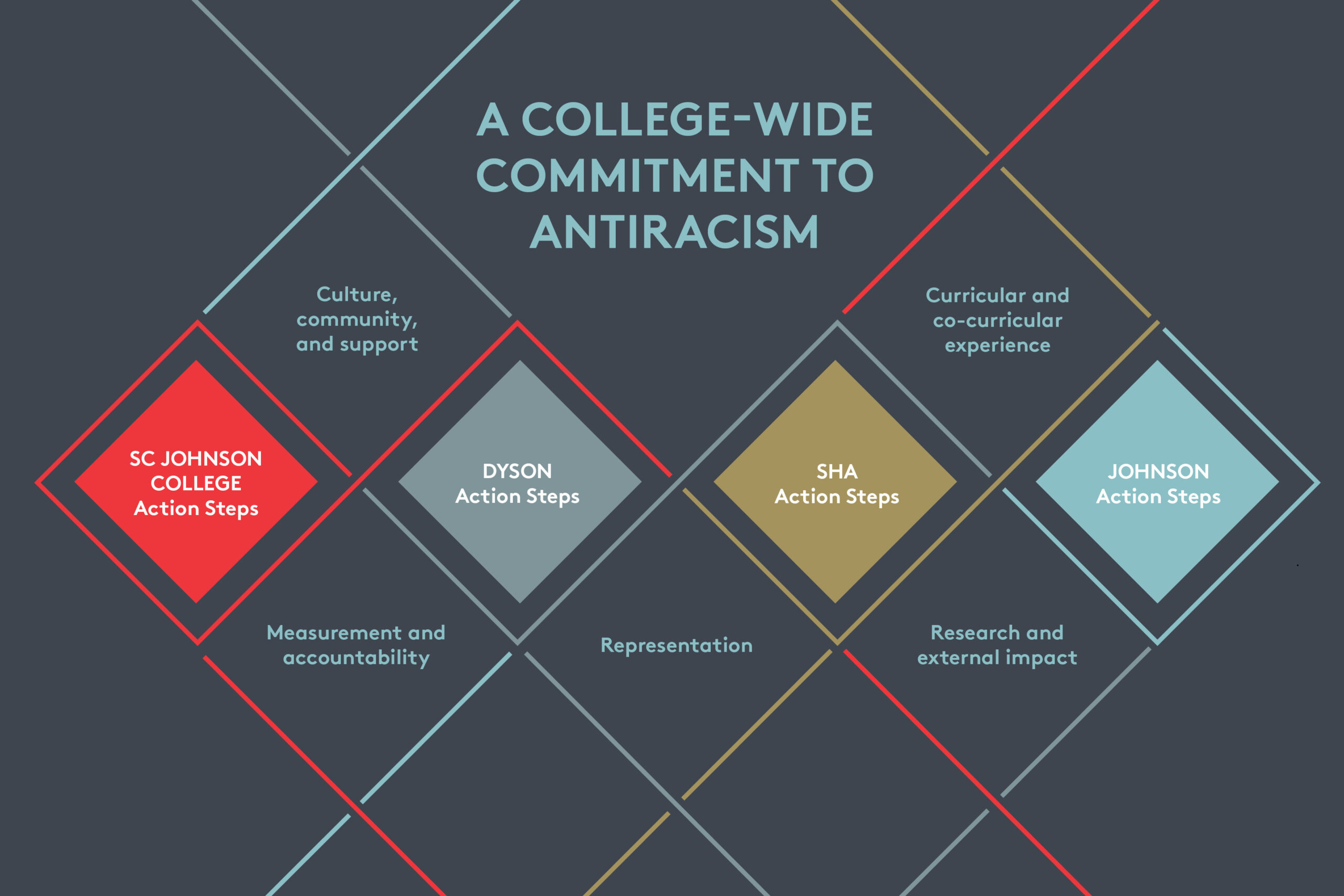 A College-Wide Commitment to Antiracism infographic