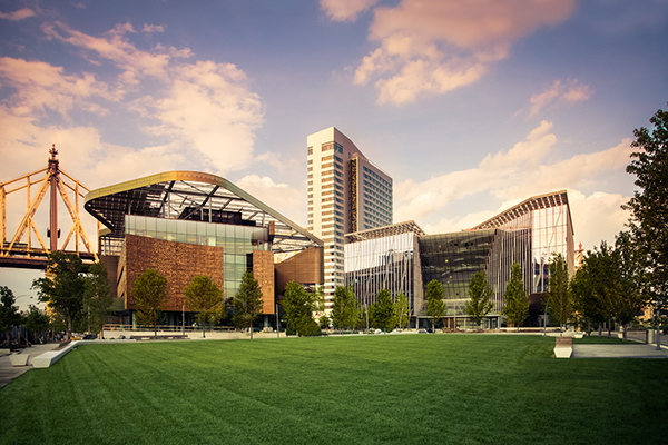 Photo of the Cornell Tech campus on Roosevelt Island in New York City