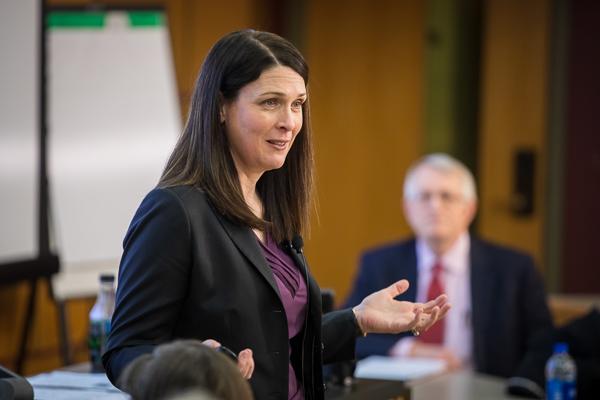 Kristin Behfar speaking