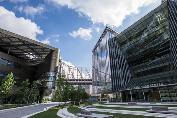Exterior of the Tata Center at Cornell Tech